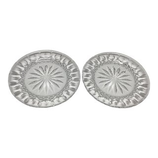 Mid 20th Century Waterford Lismore Crystal Accent Plates - a Pair For Sale