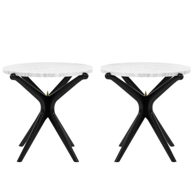 White Ebonized Gazelle Side Table For Sale - Image 8 of 8