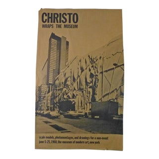 Vintage Original Poster Christo Wraps from MoMA For Sale