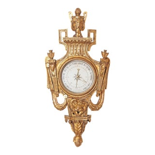 Louis XVI Period Carved and Giltwood Barometer For Sale