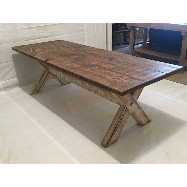 Reclaimed Pine Dining Table - Image 2 of 3