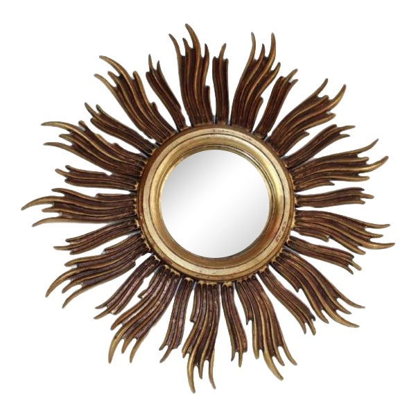 Vintage French Mid-Century Gilt Sunburst Mirror - Image 1 of 6