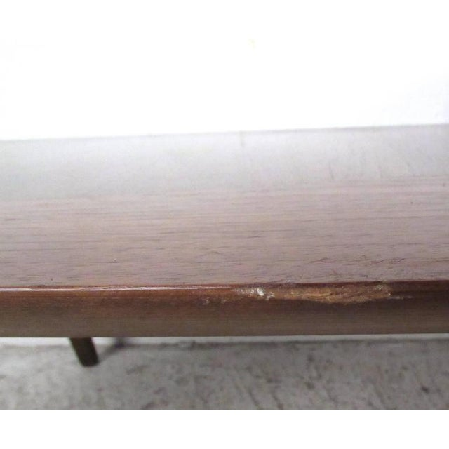 Coffee Vintage Modern Two-Tier Pivot Coffee Table For Sale - Image 8 of 11