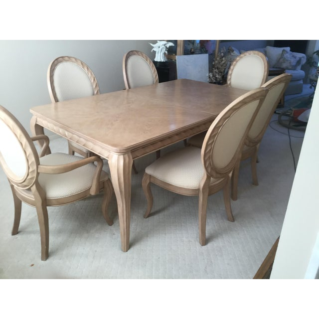 Bernhardt Bernhardt Tuscan Traditional Dining Room Set - Table 6 Chairs- Light Wood- Expandable For Sale - Image 4 of 10