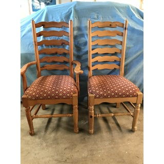 1990s Vintage Custom Pine Dining Chairs & Bench Preview