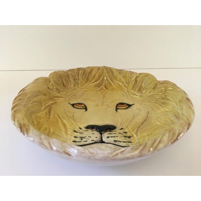 Larger- Italian Mid-Century Modern Golden Lion Bowl For Sale - Image 6 of 13