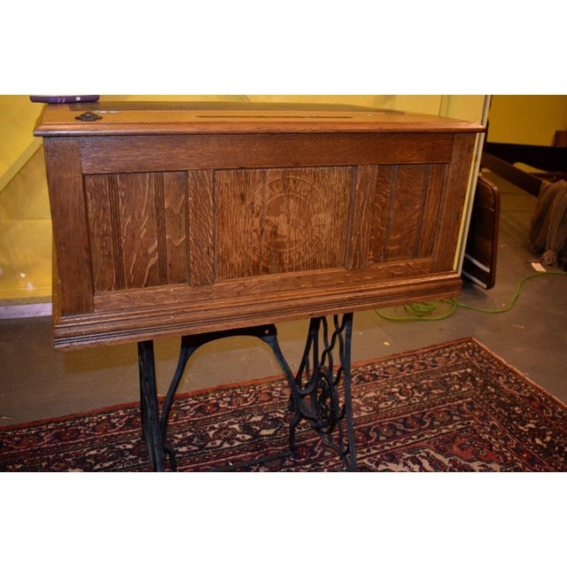 Antique Refinished 6 -Drawer Country Store Spool Cabinet For Sale - Image 5 of 11
