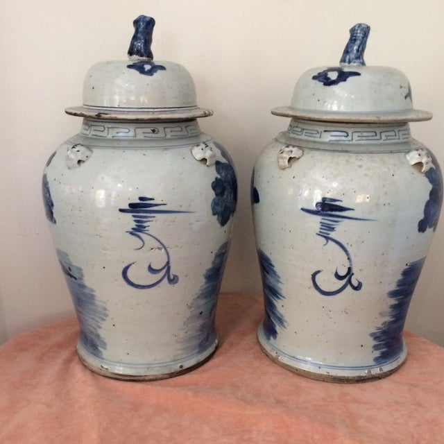 Beautiful blue & white Chinese Jars, in pristine condition.