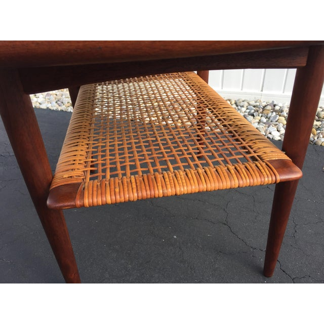 Brown Poul Jensen for Selig Mid-Century Danish End Table For Sale - Image 8 of 11