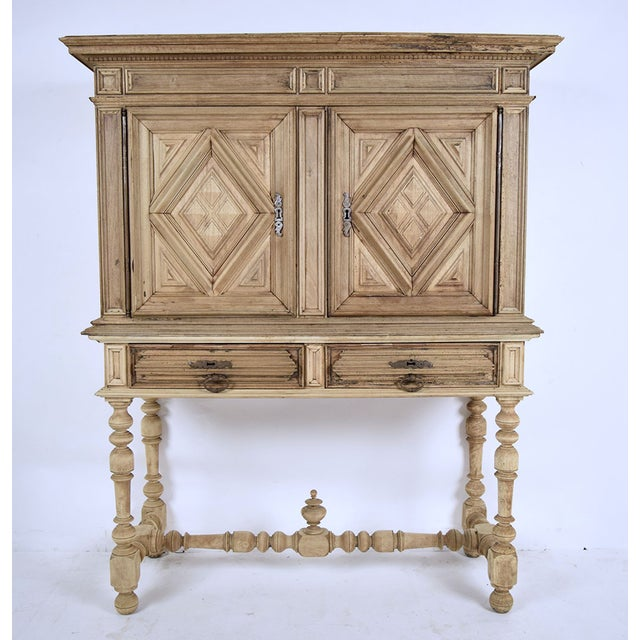 19th French Century Walnut Bleached Wood Cabinet - Image 2 of 9