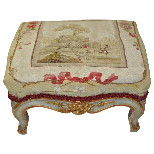 French Rococo Footstool 19th C. - Image 1 of 7