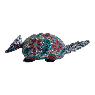 Late 20th Century Pepe Santiago Mexican Folk Art Armadillo For Sale