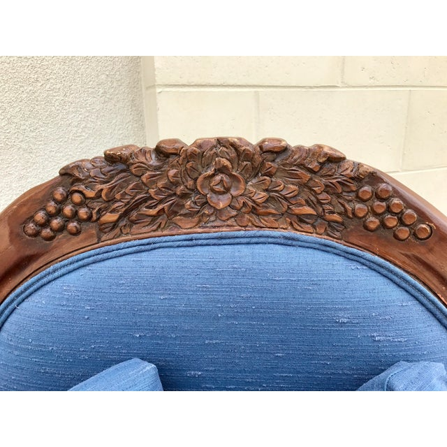 Antique Carved Wood Chaise - Image 8 of 10