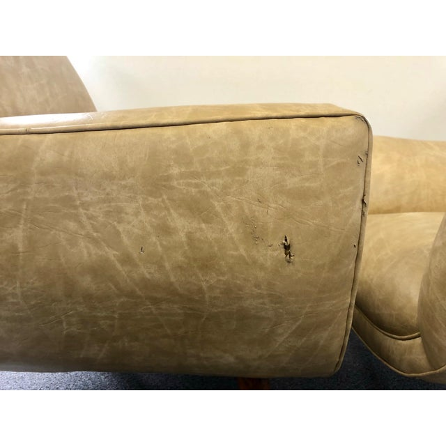 Mid-Century Club Chairs - A Pair For Sale - Image 5 of 10