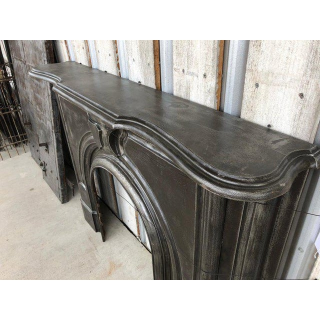 Gothic Antique Gothic Cast Iron Fireplace Mantel For Sale - Image 3 of 6