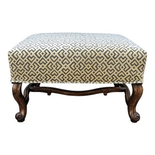 William Switzer Designer Bench by Charles Pollock W Nancy Corzine Velvet For Sale
