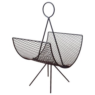1950s Magazine Rack Designed by Seymour Robins For Sale