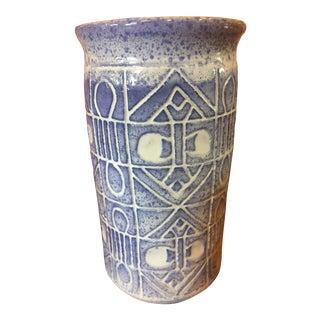 Contemporary Ceramic Hieroglyphic Vase For Sale