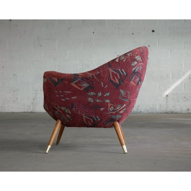 1960's Italian Lounge Chair in the Style of Gio Ponti Ca. For Sale - Image 9 of 13