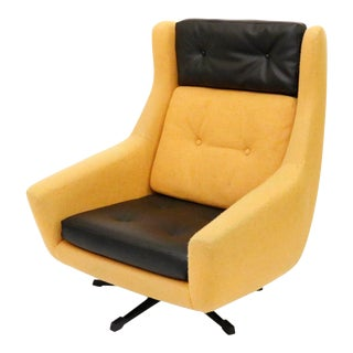 Mid Century Danish Swivel Rocker Lounge Chair For Sale