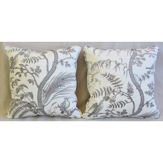 "Brunschwig & Fils Bird and Thistle Feather/Down Pillows 21"" Square - Pair Preview"
