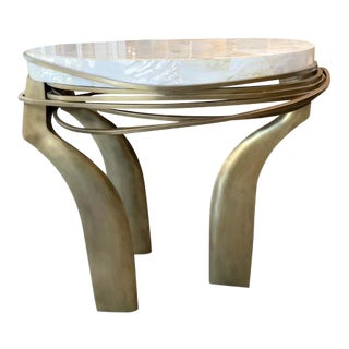 R & Y Augousti Mother of Pearl Galaxy Table by Kifu Paris For Sale