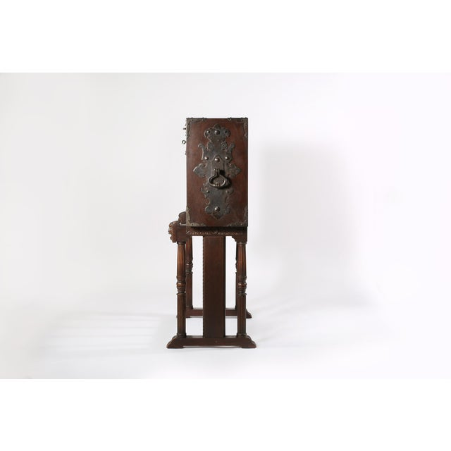 8th Century Baroque Style Cabinet on Stand / Bargueno / Vargueno For Sale - Image 9 of 13