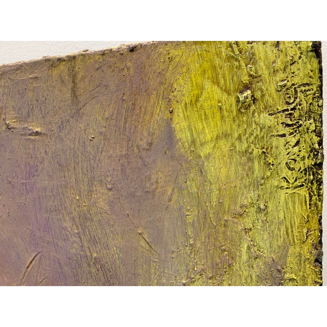 Abstract Abstract Large Scale Pastel Painting by Chicago Art Institute Professor For Sale - Image 3 of 5