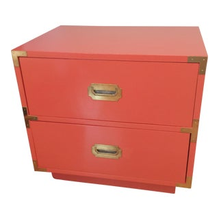 Dixie Campaigner Campaign Persimmon Nightstand Side Table