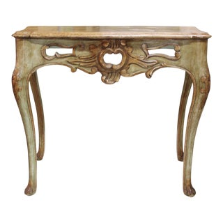 Late 20th Century Vintage Baker Distressed Console Table For Sale