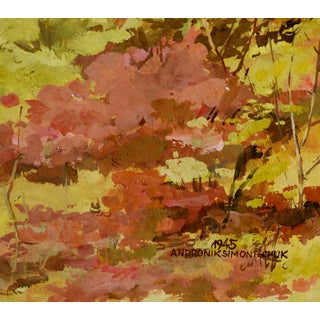 Impressionist Forest Landscape Painting Preview