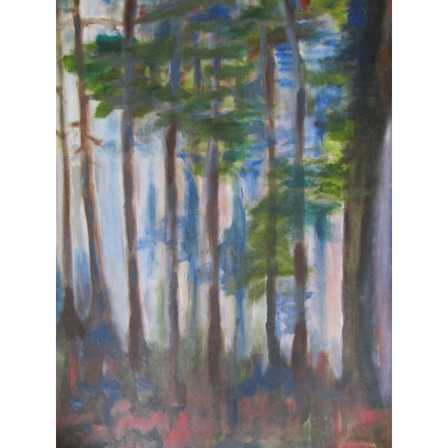 Impressionist Acrylic Painting of Redwoods For Sale - Image 4 of 7