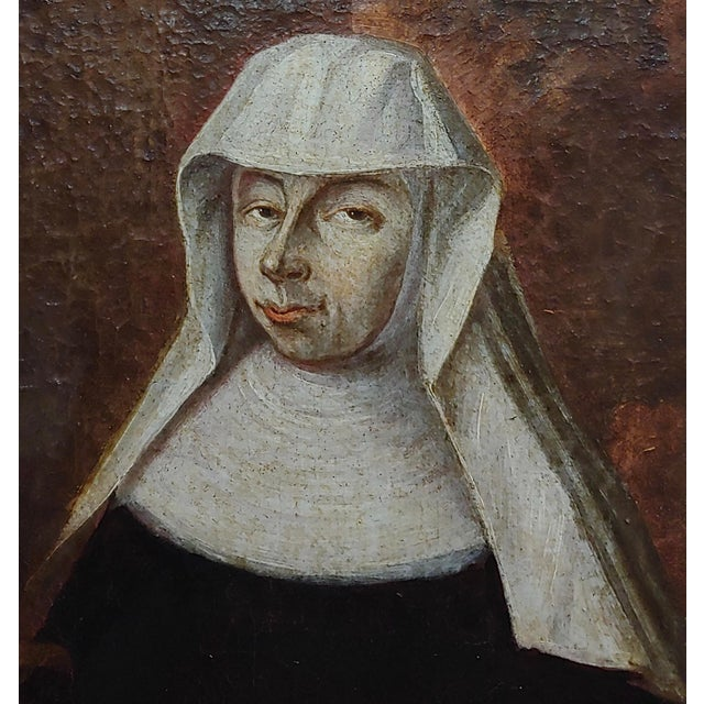 17th Century Italian Old Master -Portrait of a Nun - Oil Painting For Sale - Image 4 of 8
