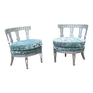 Billy Haines Style Pr Club or Lounge Chairs - a Pair For Sale
