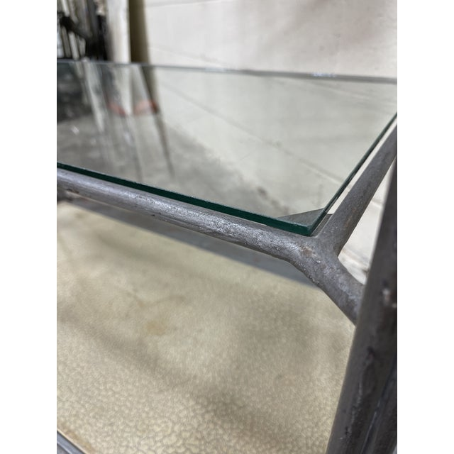 Large Iron and Glass Etageres For Sale - Image 4 of 13