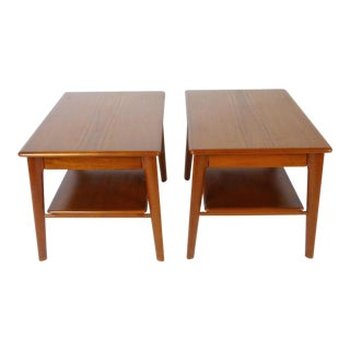 Pair of Svend Madsen Side Tables With Storage For Sale