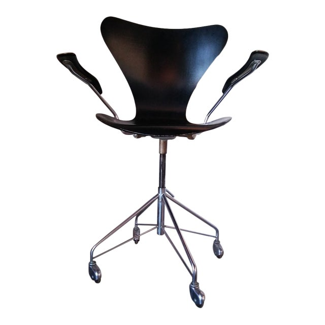 """First Edition Arne Jacobsen """"Ant"""" Desk Chair For Sale"""