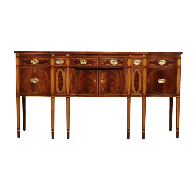 Kindel Winterthur Collection Mahogany Inlaid New York Sideboard (C) For Sale - Image 13 of 13
