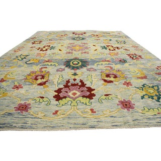 """Turkish Oushak Modern Style Area Rug - 9'7"""" X 13'3"""" Preview"""