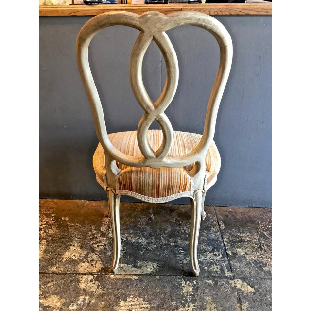 Gray Set of 8 Italian-Ventian Style Ribbon Back Dining Chairs For Sale - Image 8 of 12