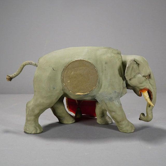 Rare Antique Elephant Clock, Circa 1920 For Sale - Image 4 of 9