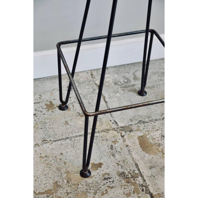 Industrial Set of Four Industrial Counter-Height Bar Stools For Sale - Image 3 of 8
