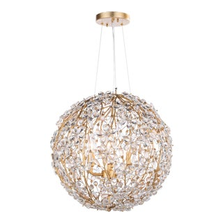 Cheshire Chandelier Small in Gold Leaf For Sale