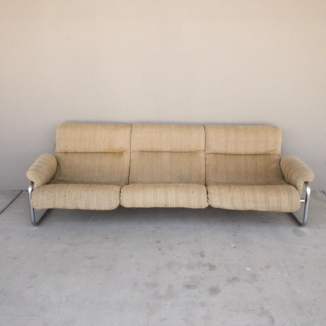 Industrial 1970s Vintage Chrome Sling Sofa For Sale - Image 3 of 8