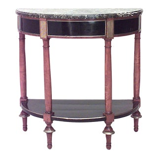 Early 19th Century Continental Neoclassical Demilune Console For Sale