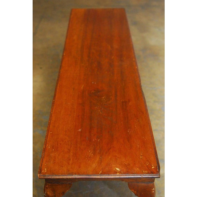 19th Century Queen Anne Revival Walnut Bench or Console - Image 8 of 8
