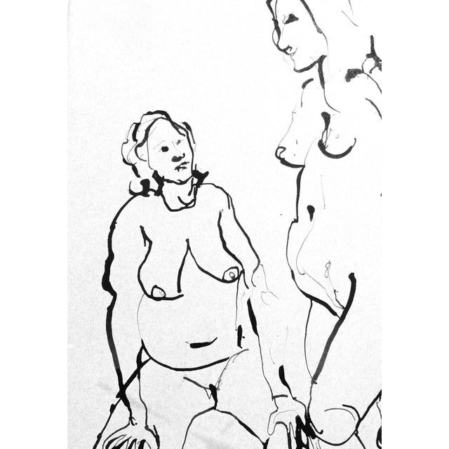 The Conversation Ink Drawing - Image 5 of 7