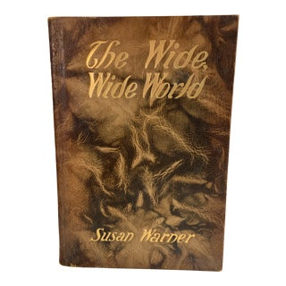 1904 The Wide, Wide World Susan Warner Leather Book For Sale