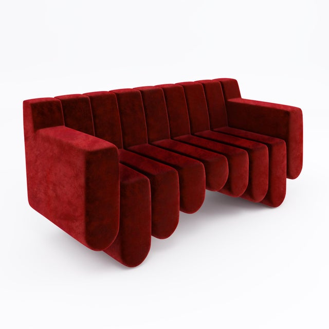 Art Deco Sound Sofa by Artist Troy Smith - Contemporary Design - Custom Furniture - Limited Edition For Sale - Image 3 of 7