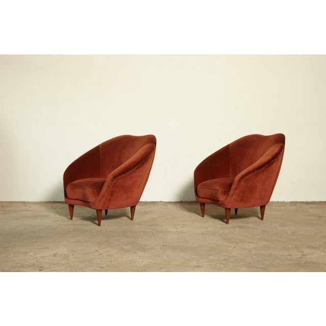 Red Pair of Federico Munari Lounge Chairs Italy, 1960s For Sale - Image 8 of 8